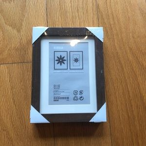 """New Ikea RIBBA Picture Frame 5x7"""" Brown Wood"""